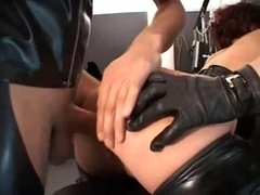 Kinky babes in latex engage in BDSM fun