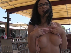 Julia de Lucia in Public Decency