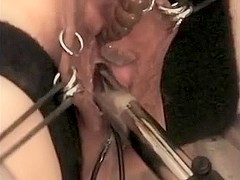 Peehole stimulation by finger and sounds