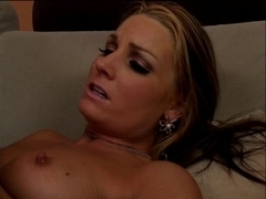 Cute youthful golden-haired widens legs and acquires her cum-hole licked and screwed