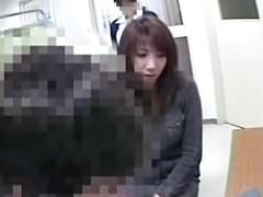 Teen legs are widely spread while voyeur medical exam