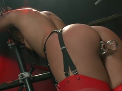 Hottest fetish sex scene with amazing pornstars Dana DeArmond, James Deen and Skin Diamond from Ev.