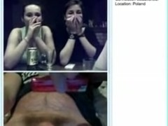 three polish grls laugh at little ramrod on omegle