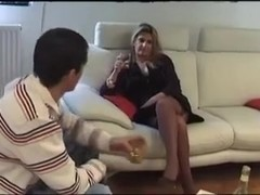 Naughty french milf a hot younger guy for sex