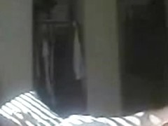 Every day my mom masturbates on bed. Hidden cam