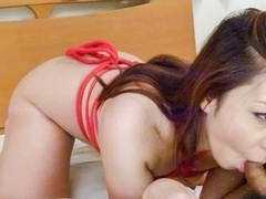 Exotic Japanese chick Maki Mizusawa in Horny JAV uncensored Handjobs clip