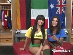 Sexy lesbian Bonnie and Rose strips on camera live hot and wet