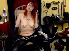 DOMINANT performs CBT on villein thru web camera part two
