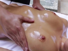 Naughty Japanese pornstar works with this cock like a real pro