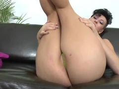 Hot Latina Emylia Argan shows her ass and then gets fucked