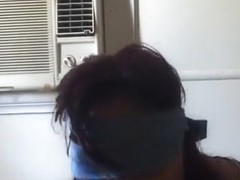 Amateur Asian MILF blindfold POV blowjob