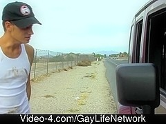 Hitchhiker twink acquires picked up
