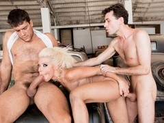 Anikka Albrite & Ramon Nomar & James Deen in Anikka Albrite In Cum Extraction Video