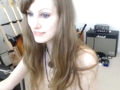Skinny girlfriend plays with her tiny boobs and reveals her