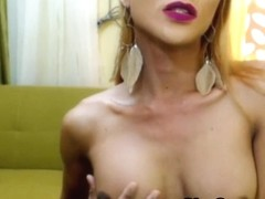 Slender Filipina Transsexual Plays Taut Aperture