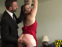 Ass ravaged milf slut gets her face slapped and fucked