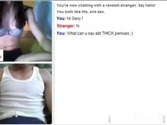 Omegle Jungle three : Hawt white  immature !