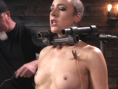 Lilith Luxe,The Pope in Sex Slave Lilith Luxe Humiliated with Head Shaving and Coerced Orgasms - D.