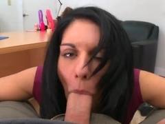Lusty Bella Reese takes on fat cock in pov