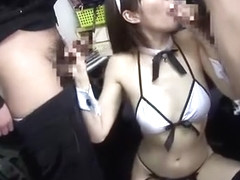 Crazy Japanese model Nachi Sakaki in Best Lingerie, Blowjob/Fera JAV scene