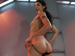 Incredible anal, fetish adult clip with fabulous pornstar Lou Charmelle from Fuckingmachines
