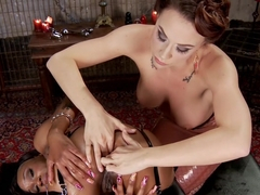 Fabulous fetish, anal porn video with hottest pornstars Caramel Starr and Chanel Preston from Ever.