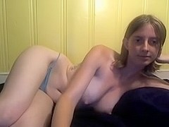 Amateur porn video with horny blonde