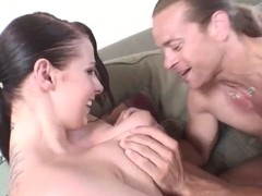 Gianna knows how to use her lips and large tits