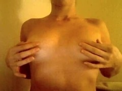 Playing with my tits on a webcam