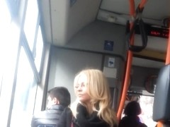 spy blonde in bus romanian