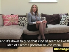 Auditioning busty milf ### blows agent