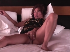 Asian wife posing and show pussy