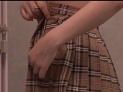 Nice teen in school uniform Tsubomi sex toys and vibrator fun