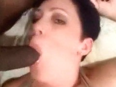 Horny Short Haired White Wife Getting The Smack Of 1St Dark Wang