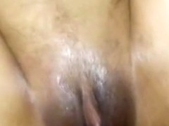 Latina is a bit shy at first in her first sextape
