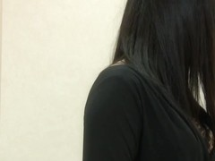 The excellent view of Asian girl in bra on voyeur cam