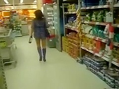 Hot Wife In Exposed Upskirt Movie At The Local Store