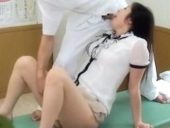 Gorgeous Jap gets screwed in kinky spy cam massage clip