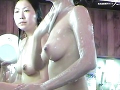 Showering Asian with the wet titties on the hidden cam dvd 03257