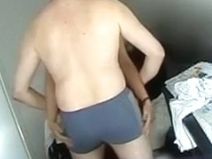 Voyeur husband tapes himself fucking his wife on his desk