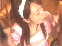 Fabulous Japanese chick Anna Kanzaki in Incredible Maid/Meido, Threesomes JAV movie
