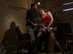 Best fetish adult video with crazy pornstars Mickey Mod and Mallory Mallone from Dungeonsex