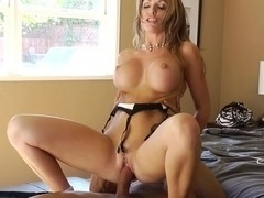 Fucking and taking facial cumshot for money