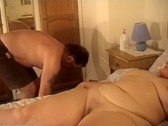 Licking my fat mature wife well