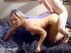 Blonde mother fucked by her daughter's boyfriend