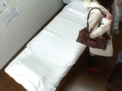 Asian girl gets the deep spy cam massage of bushy pussy