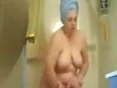 My mum totally naked caught by hidden cam