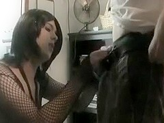 Lovely Crossdresser Sucks Teen Dick