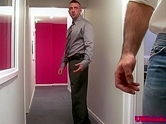 Uk office bear bumming london lad before cumshot