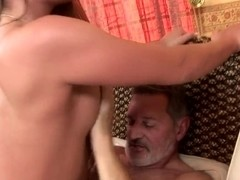 Teen Cathy Heaven has nice screw with old man